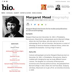 Margaret Mead - Anthropologist, Women's Rights Activist