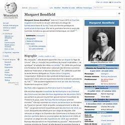 Margaret Bondfield