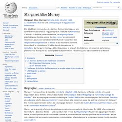Margaret Alice Murray