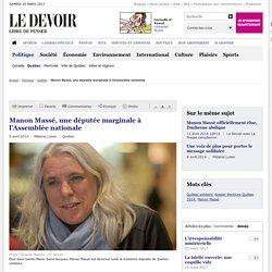 Manon Massé, une députée marginale à l'Assemblée nationale