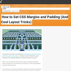 How to Set CSS Margins and Padding (And Cool Layout Tricks) — SitePoint
