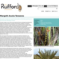 The Rufford Small Grants for Nature Conservation