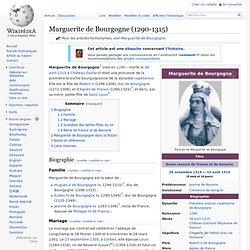Marguerite de Bourgogne - 1290-1315