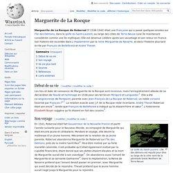 Marguerite de La Rocque