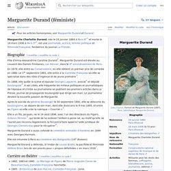 Marguerite Durand (féministe)