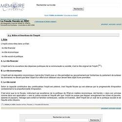 La fraude fiscale en RDC - Marguerite Francine SEMETE O'NKOL