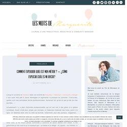 Les mots de Marguerite : journal d'une traductrice, rédactrice & community manager