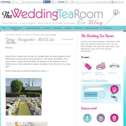Daisy - Marguerites - miel et les abeilles - The Wedding Tea Room