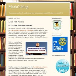 Maria's blog: Learn with Passion