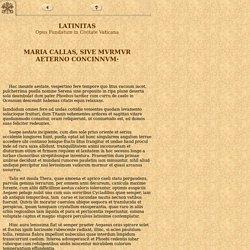 Maria Callas - Latinitas