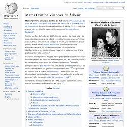 María Cristina Vilanova de Árbenz