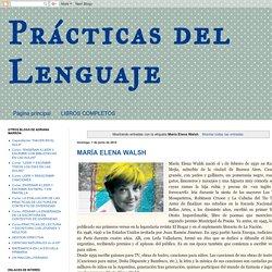 Prácticas del Lenguaje: María Elena Walsh