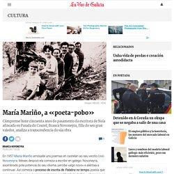 María Mariño, a «poeta-pobo»