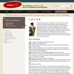 Maria Montessori (savoirs CDI)