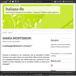 MARIA MONTESSORI - Italiano-fle