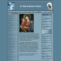 Maria Mutter Gottes