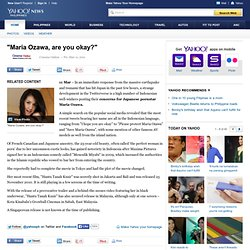 """Maria Ozawa, are you okay?"" - Yahoo!"
