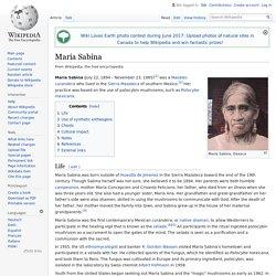 María Sabina - Wikipedia