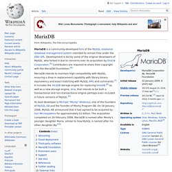 MariaDB - Wikipedia