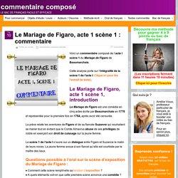 Le Mariage de Figaro, acte 1 scène 1 : commentaire