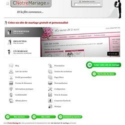 Créez un site de mariage personnalisé et gratuit - Site blog mariage gratuit perso