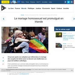 Le mariage homosexuel est promulgué en Irlande