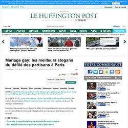 Mariage gay: les meilleurs slogans du défilé des partisans à Paris