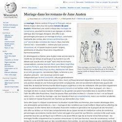 Mariage dans les romans de Jane Austen