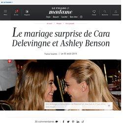 Le mariage surprise de Cara Delevingne et Ashley Benson