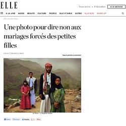 Une photo pour dire non aux mariages forcés des petites filles