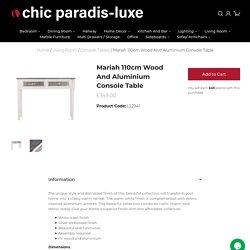 Mariah Wood And Aluminium Console Table