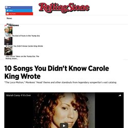 10 Songs You Didn't Know Carole King Wrote