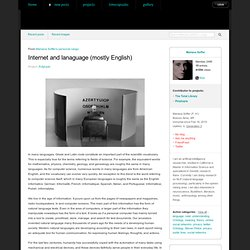 Mariana Soffer: Internet and lanaguage mostly English