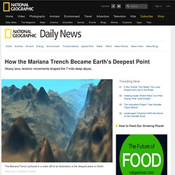 How the Mariana Trench Became Earth's Deepest Point