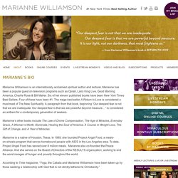 S BIO » Marianne Williamson