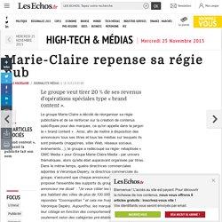 Marie-Claire repense sa régie pub, High-Tech & Médias