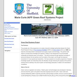 Marie Curie IAPP Green Roof Systems Project