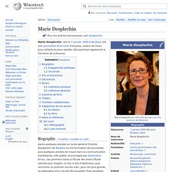 Desplechin, Marie