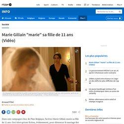 """Marie Gillain """"marie"""" sa fille de 11 ans (Vidéo)"""