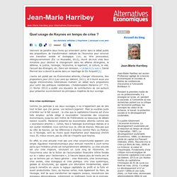Jean-Marie Harribey » Blog Archive » Quel usage de Keynes en temps de crise ?