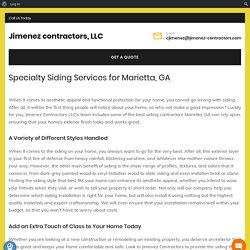 Choose the Best Siding Contractor in Marietta GA