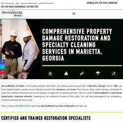 Marietta, GA Property Damage Restoration and Cleaning Services