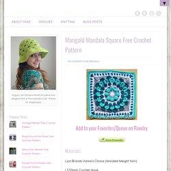 Marigold Mandala Square Free Crochet Pattern