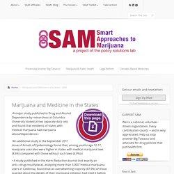 Marijuana and Medicine in the States - SAM