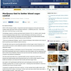 Marijuana tied to better blood sugar control