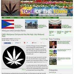 CBD: Marijuana Compound Has No High, But Relieves Pain