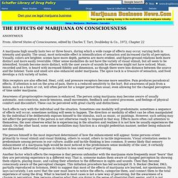 The Effects of Marijuana on Consciousness