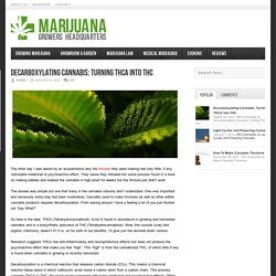 Decarboxylating Cannabis: Turning THCA into THC – Marijuana Growers HQ