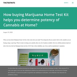 How buying Marijuana Home Test Kit helps you determine potency of Cannabis at Home?