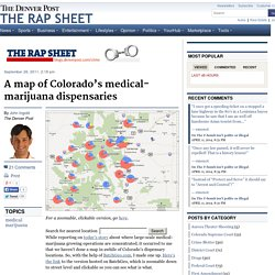 A map of Colorado's medical-marijuana dispensaries